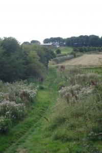 The old railway line from Preesall